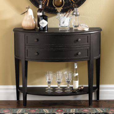 havertys newport sofa table elixir grey leather electric recliner corner ballard design s demilune copycatchic