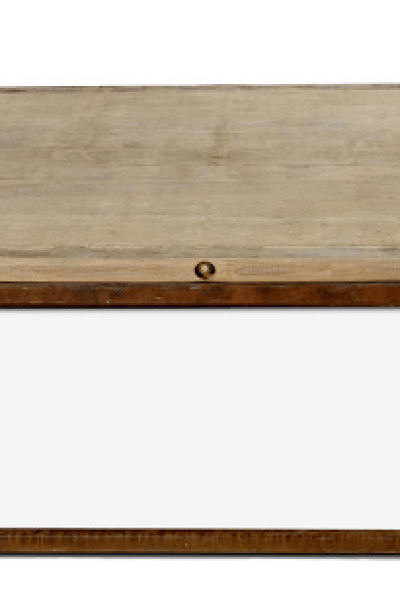 restoration hardware brickmaker's coffee table - copycatchic
