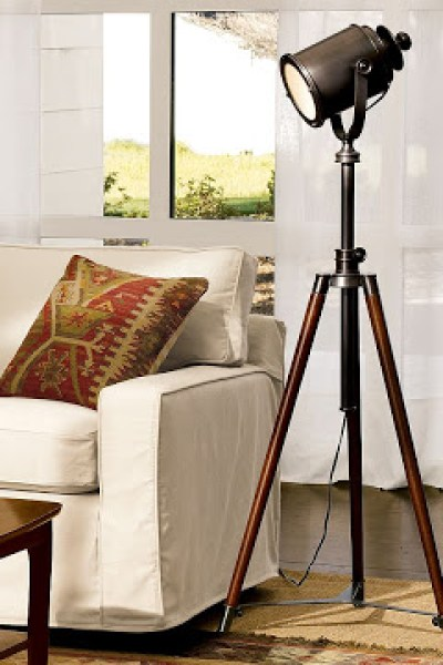 Restoration hardware spotlight tripod floor lamp copycatchic pottery barn photographers tripod floor lamp aloadofball Choice Image