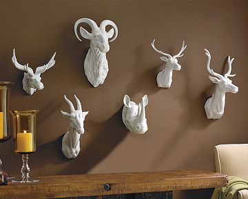 williams sonoma home ceramic animal heads