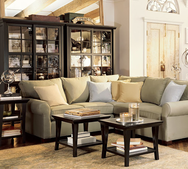 room and board metro sofa with chaise dogs bed pottery barn metropolitan side table - copy cat chic