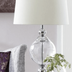 Curtains In Gray Living Room Coastal Decor Images Restoration Hardware Crystal Ball Urn Table Lamp - Copycatchic