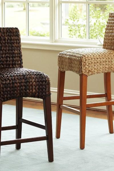Amazing Pottery Barn Seagrass Barstool Copycatchic Short Links Chair Design For Home Short Linksinfo