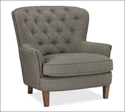 tafton club chair rosemary beach rental pottery barn cardiff tufted armchair - copycatchic