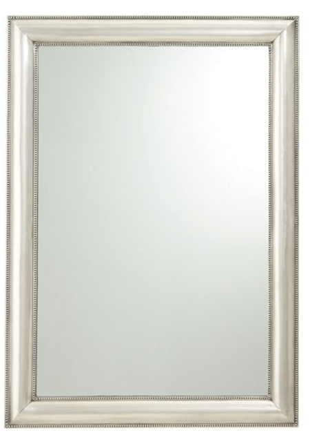 Pottery Barn Silver Beaded Mirror