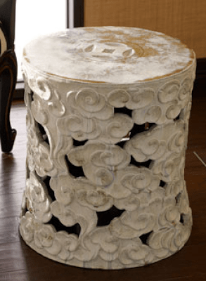Horchow Antique Garden Stool & CLAYTON GRAY CELESTIAL CLOUD CERAMIC STOOL Part II - copycatchic islam-shia.org