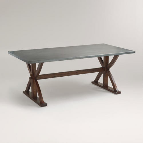Simple Restoration Hardware Salvaged Wood and Concrete X Base Table