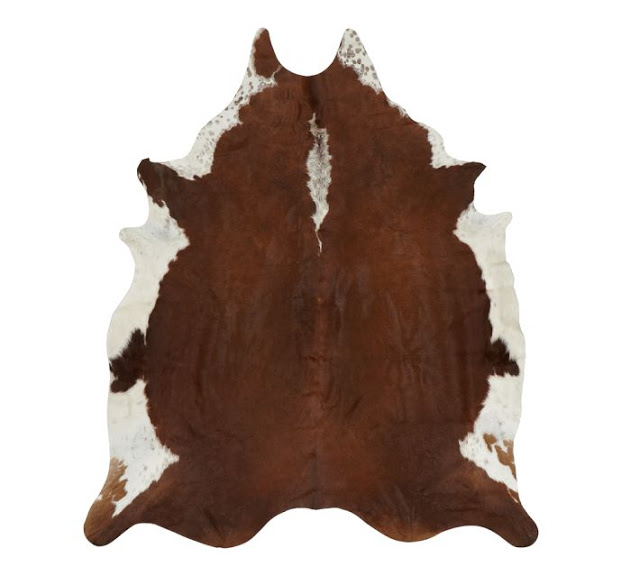 pottery barn cowhide rug