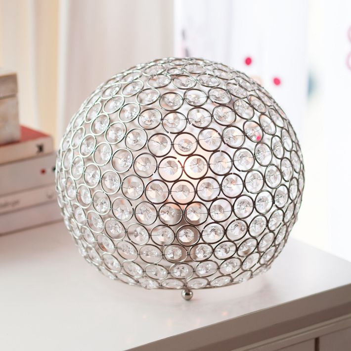 Horchow Bosley Crystal Ball Lamp  copycatchic