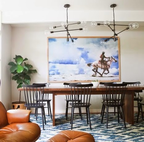 Copy Cat Chic Room Redo | Modern Eclectic Dining Room