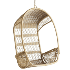 Pier One Hanging Chair Fold Up High Seat Serena & Lily Rattan - Copycatchic