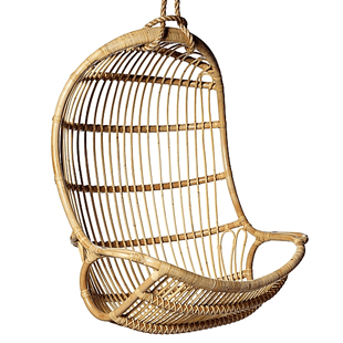 hanging rattan chair beach house style dining chairs serena lily copycatchic