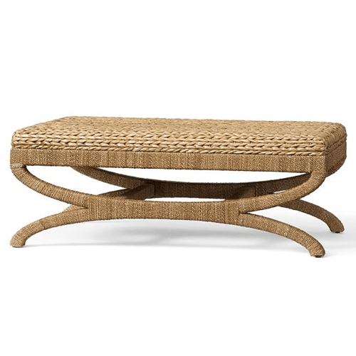 pottery barn seagrass coffee table