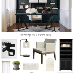 Bookshelf Chair For Sale Cover Sash Ties Copy Cat Chic Room Redo | Modern & Graphic Office - Copycatchic