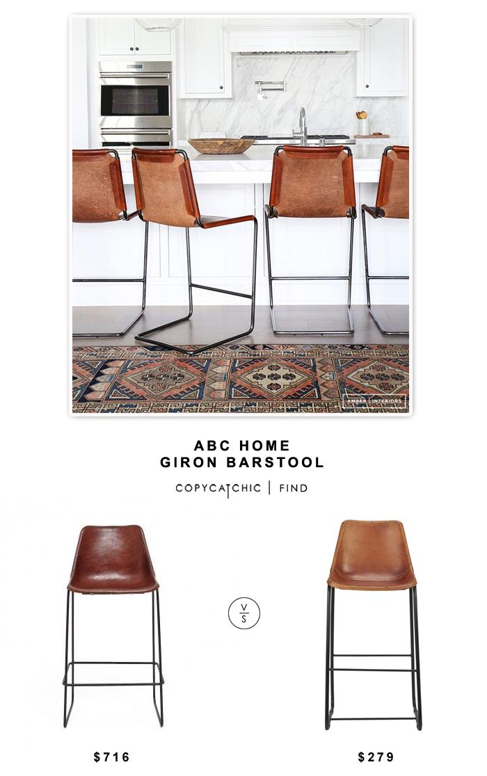 Beautiful ABC Home Giron Leather Barstool