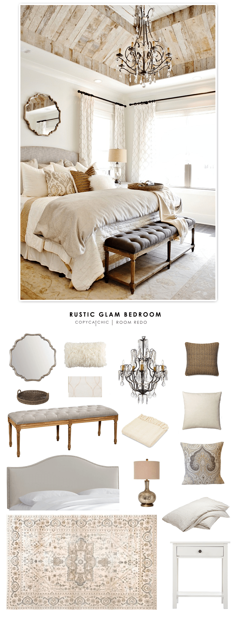 mid century rocking chair nursery queen and king chairs room redo | rustic glam bedroom for less- copycatchic