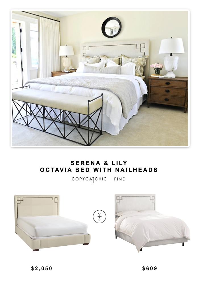 Fresh Serena u Lily Octavia Bed with Nailheads