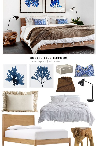 cat bedroom. Copy Cat Chic Room Redo  Modern Blue Bedroom Traditional copycatchic