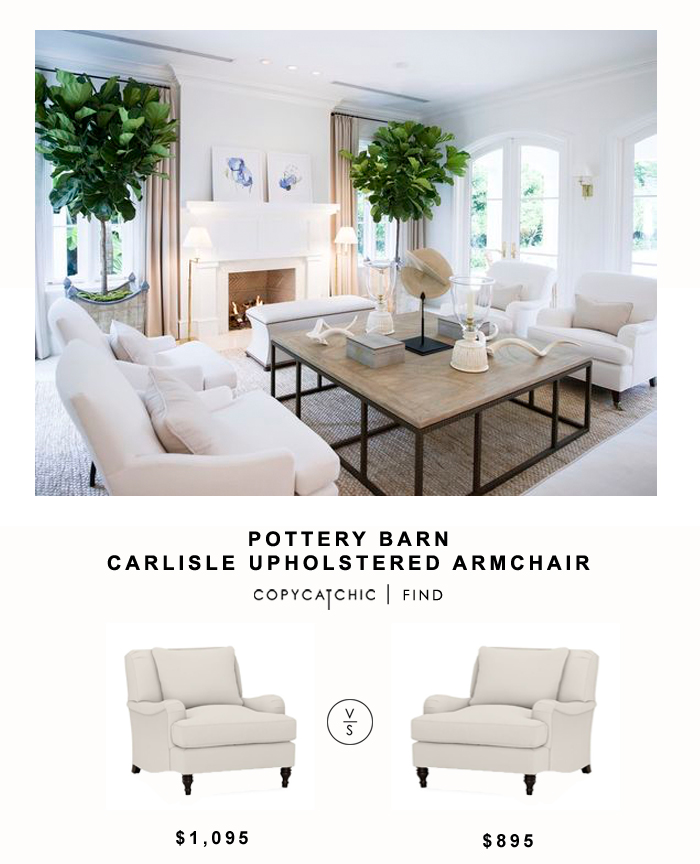 sofa bed chair amazon sofas italianos madrid pottery barn carlisle upholstered armchair - copycatchic