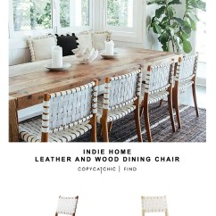 Arhaus Leather Sofa King Size Bed Sheets Indie Home Wood And Dining Chair - Copycatchic