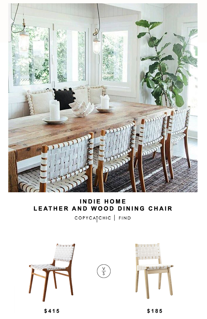 ethan allen leather chair dining room slipcovers white indie home wood and - copycatchic