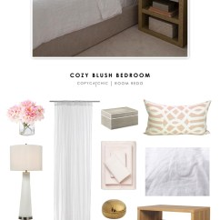 Kitchen Nook Curtains Rectangle Table And Chairs Copy Cat Chic Room Redo | Cozy Blush Bedroom - Copycatchic