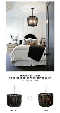 Shades of Light Wood Beaded Draped Chandelier - copycatchic