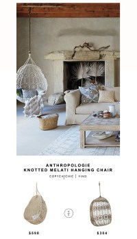 Anthropologie Knotted Melati Hanging Chair - copycatchic