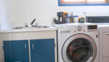 laundry room progress and an lg giveaway chic laundry room