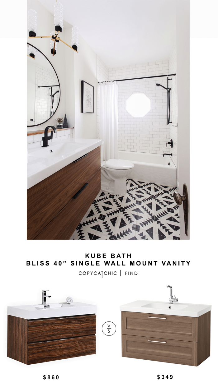 Kube Bath Bliss 40 Single Wall Mount Vanity Copycatchic