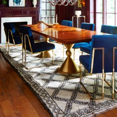 Jonathan Adler Chair Dining Seat Cover Goldfinger Copy Cat Chic