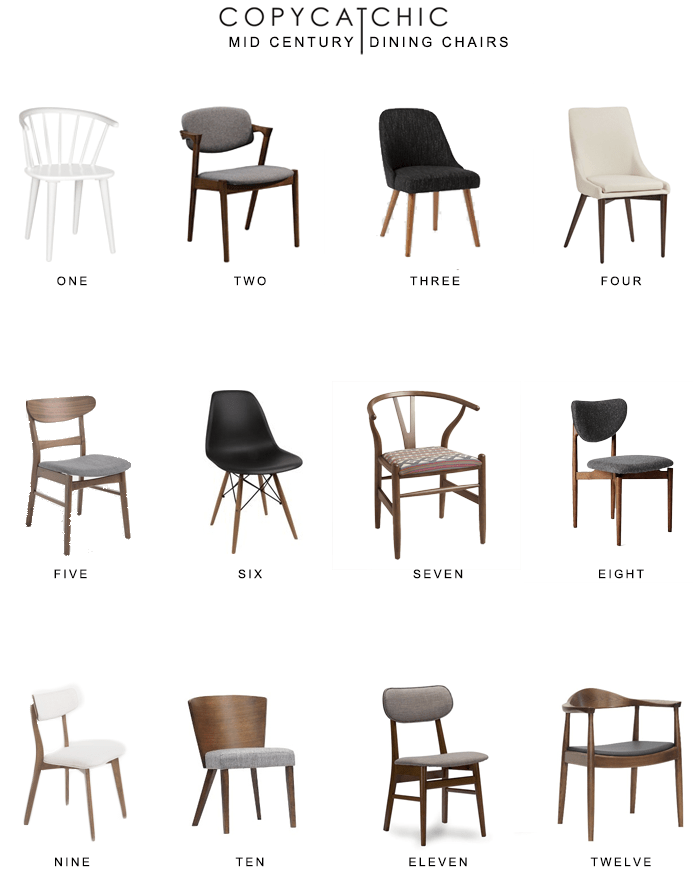 mid century dining chairs accent tub chair round up copycatchic home trends all of our favorite inspired luxe