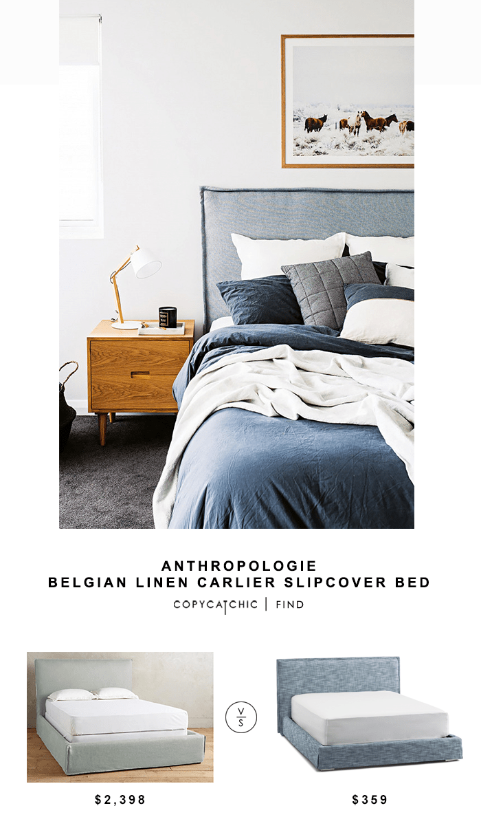 Apartment Anthropologie Armoire - ANTHROPOLOGIE-Belgian-Linen-Carlier-Slipcover-Bed-Copycatchic-Look-for-Less_Popular Apartment Anthropologie Armoire - ANTHROPOLOGIE-Belgian-Linen-Carlier-Slipcover-Bed-Copycatchic-Look-for-Less  Pic_868733.png