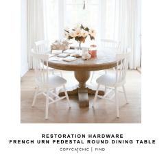 World Market Desk Chair Menu Harbour Upholstery/steel Base Restoration Hardware French Urn Pedestal Round Dining Table - Copycatchic