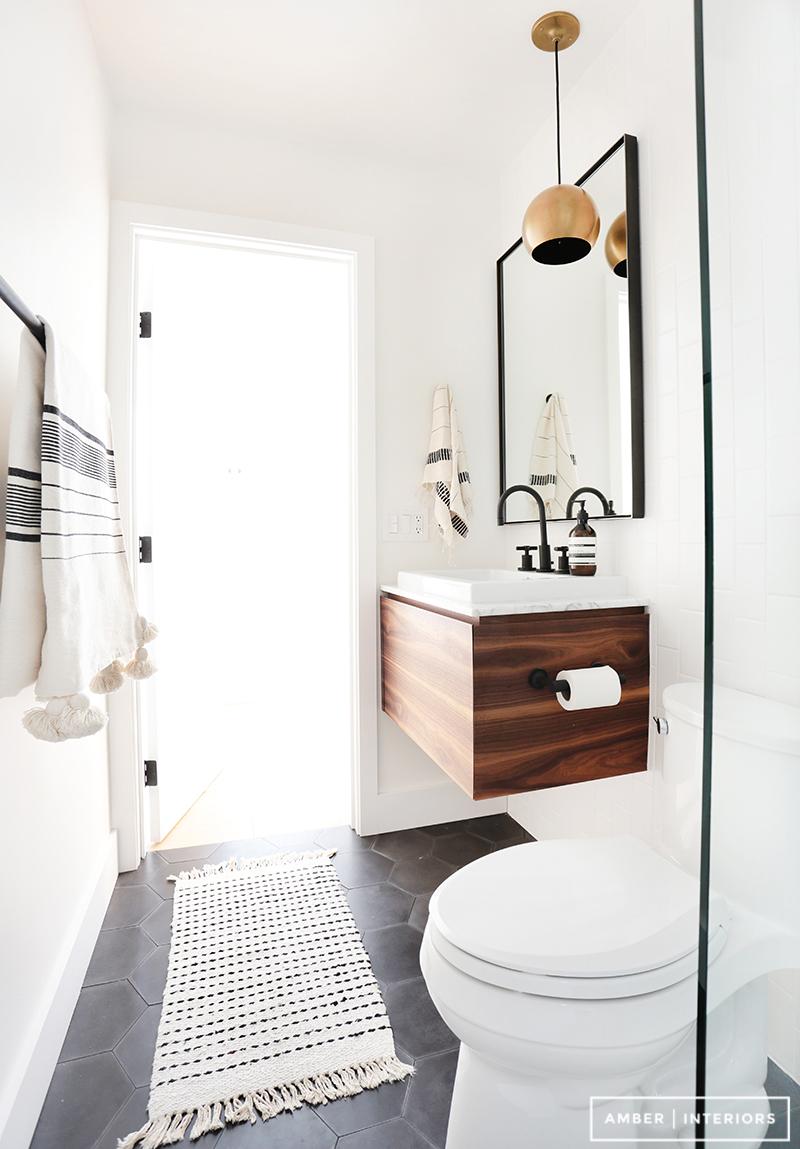 New Copy Cat Chic Room Redo Sleek Contemporary Bathroom