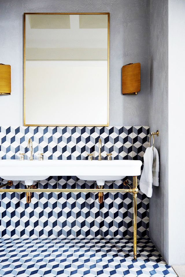Wallpaper Fall Farmhouse Daily Find Cl 233 Cement Tile Diamond Twist Copycatchic