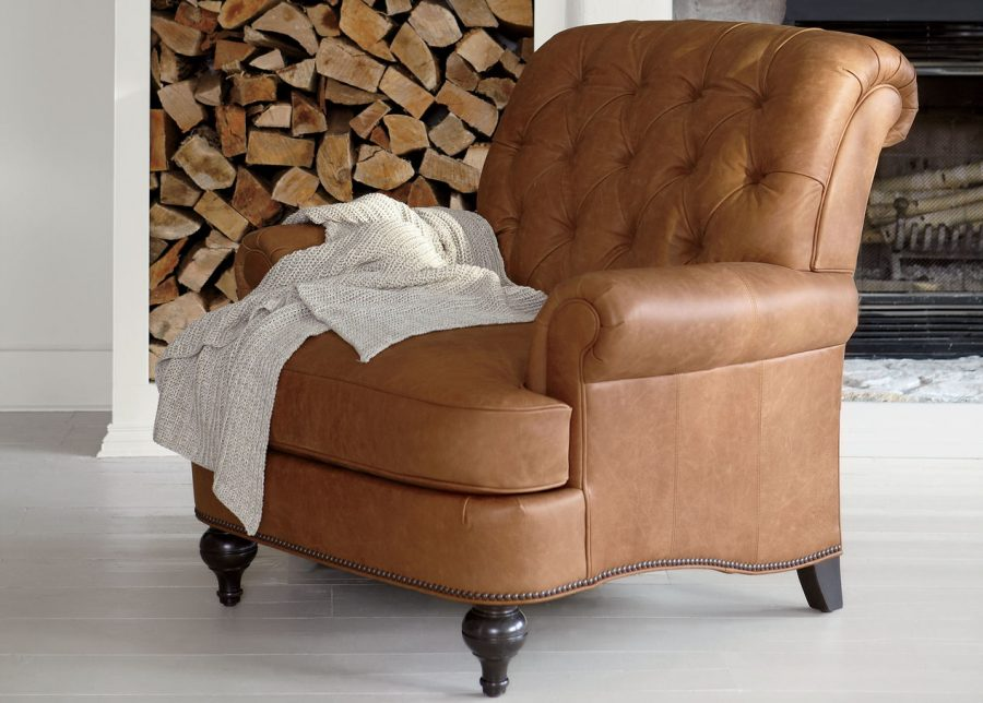 ethan allen leather chair baby vibrating shawe copycatchic