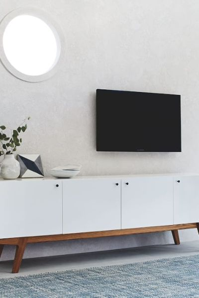80 media console wood lacquer daily find west elm modern media console midcentury buffet copycatchic