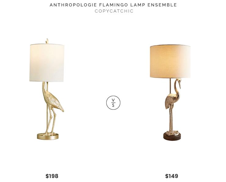 Daily Find  Anthropologie Flamingo Ensemble Lamp