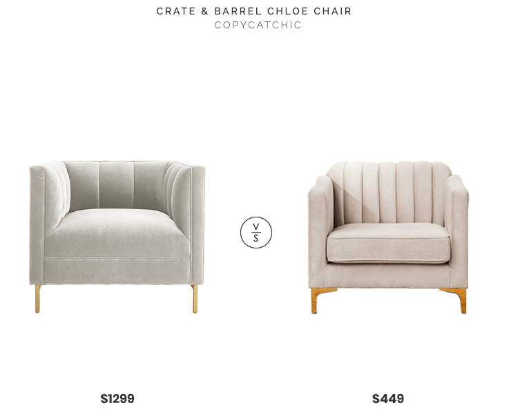 crate and barrel armless chair mickey mouse chairs archives copycatchic chloe 1299 vs urban outfitters marcella velvet 449 gray