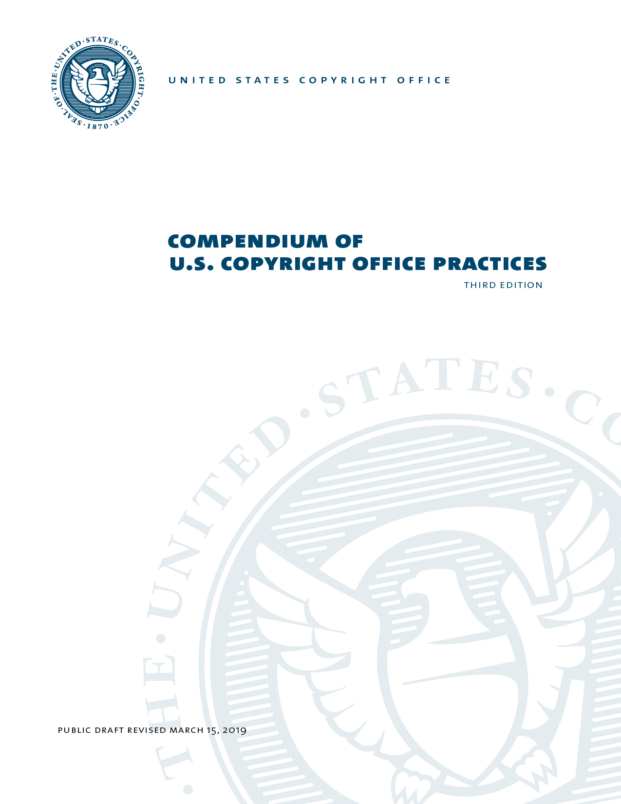 Public Draft for the Compendium of U.S. Copyright Office
