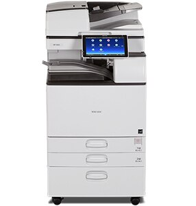 Ricoh MP 4055 produces up to 40 black-and-white prints/copies per minute, with 1200 x 1200 dpi max print resolution. Use the Smart Operation Panel to copy, print, scan and fax quickly. Load up to 220 single-sided or double-sided color or black-and-white originals in the Single Pass Document Feeder for fast & easy scanning. Easily share information from your smartphone or tablet using the MFP.