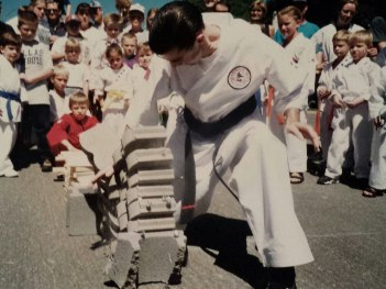 bestselling author larry roberts breaking bricks with karate