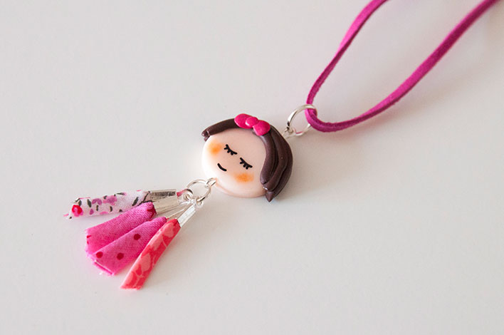 collier girly fimo
