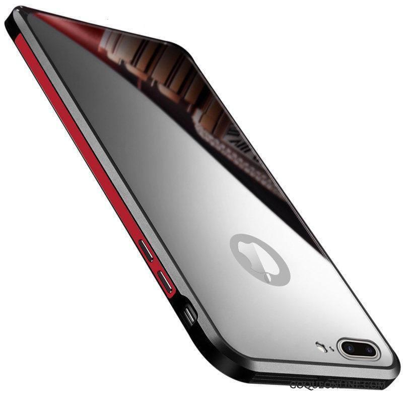 iphone 7 coque tres mince incassable nouveau miroir etui noir protection en vente