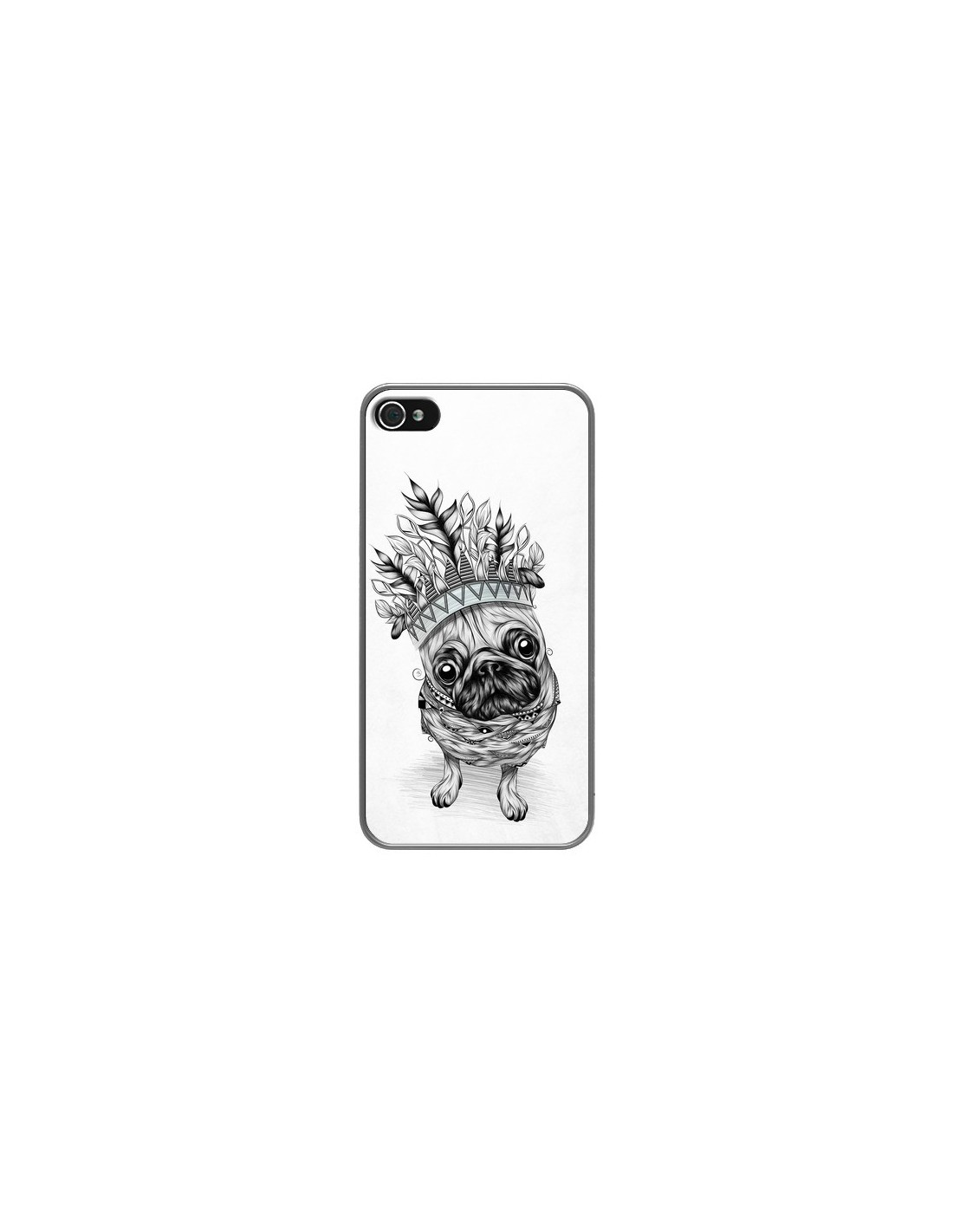 Coque Indian Dog Chien Indien Chef Couronne pour iPhone 4