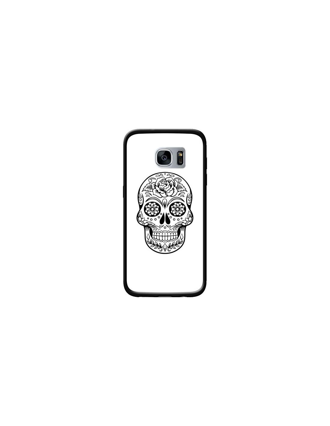 Coque Tête de Mort Mexicaine Noir pour Samsung Galaxy S7