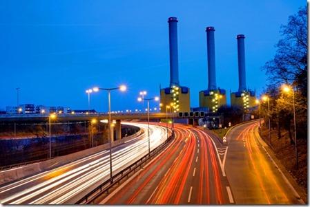 contaminacion luminica en ciudad