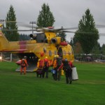 CH-109 Cormorant loading at town centre park