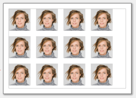 The Tiles shape repeats the same photo multiple times in horizontal and vertical directions.